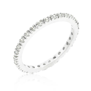 Renetta Round Pave Set Stackable Eternity Ring | 1ct | Cubic Zirconia