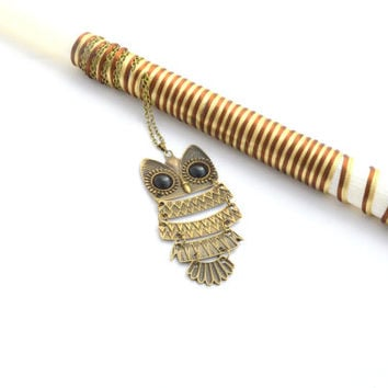 Owl Pendant Lampada //Greek Easter Candle // Owl Necklace //Easter Lampada. Goddaughter Labada from godmother .