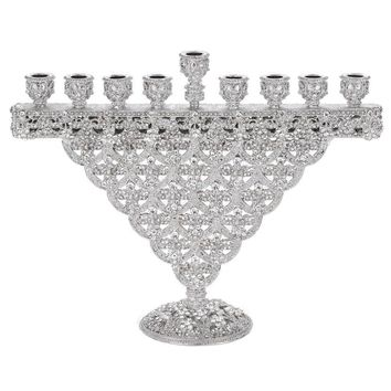 Crystal Sinclair Menorah By Olivia Reigel In Clear Size: 8.25L X 2.75W X 6.5H