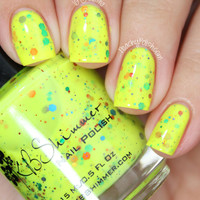 Blinded By The Bright Nail Polish Neon Yellow Nail Lacquer- 0.5 oz Full Sized Bottle