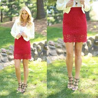 Rose Red Skirt