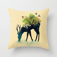Watering (A Life Into Itself) Throw Pillow by Budi Satria Kwan