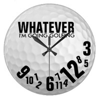 Eat Love Pray: Golf Theme Clocks for Dads and Golf Lovers