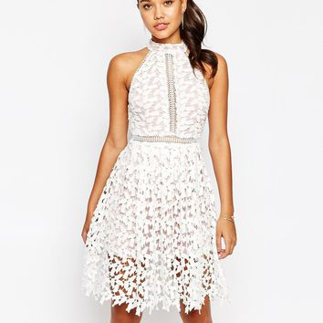 Love Triangle High Neck Midi Dress