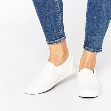 New Look Molly White Grain Slip-On