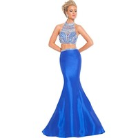 Hanayome Women's Sexy High Neck Beading Evening Dresses C540