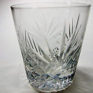 Hand Cut  shot glass ,3 pieces