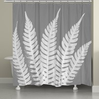 Grey Beauty Shower Curtain