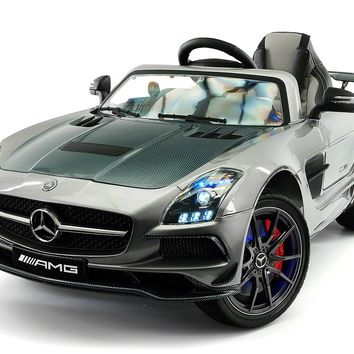 Mercedes SLS AMG Final Edition 12V Kids Ride-On Car with Parental Remote | Gray Metallic