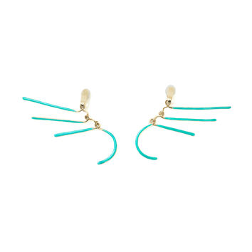 Aurélie Bidermann Vera Earrings - Acapulco 18K Gold Plated Brass Earrings