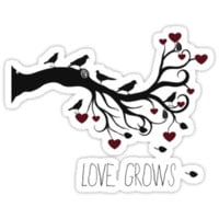 Love Grows Birds and Hearts