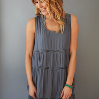Valencia Tiered Dress Storm Grey