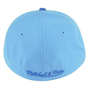 56ac1e44c7c NBA Mitchell Ness Los Angeles Lakers Light Blue TK41 Alternate 2 Hat Cap 7