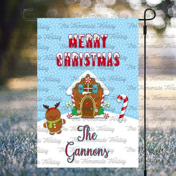 Personalized Gingerbread Lawn Flags