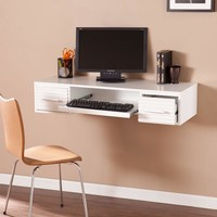 Simon Wall Mount Desk - White-Southern Enterprises