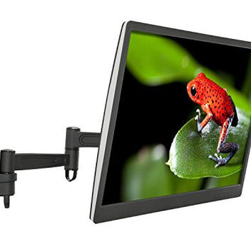 Mount-It! MI-455 Single Arm Tilting, Rotating, Pivoting, and Swiveling Wall Mount Stand for LCD, LED, OLED, and Plasmas Such as Samsung, Sony, Element, Panasonic, and Toshiba, Flat Screen TV, 42 Inches Max, 44 Lb Load Capacity, VESA Compatible, Black