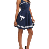 Hell Bunny Navy Motley Sailor Dress