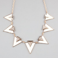 Full Tilt Ivory Triangle Statement Necklace Ivory One Size For Women 23466216001