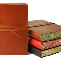 Chianti Large Leather Journal | Customisation available | Lined or Plain Paper