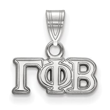 Sterling Silver Gamma Phi Beta Small Pendant Necklace