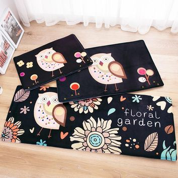Autumn Fall welcome door mat doormat Owl Carpet 45*120cm Kitchen mat Cartoon home carpet door antislip rugs Christmas decor floor rugs modern Fish Animal  AT_76_7