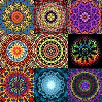"Zhui Star Full Square Drill 5D DIY Diamond Painting ""mandala"" handmade 3D Embroidery pasted Cross Stitch Mosaic Decor kit gift"