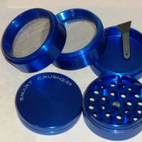 4 Part 50mm Blue Space Metal Coffee Pollen Tobacco Spice Herb Grinder Smart Crusher . SALE