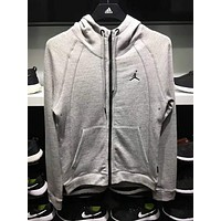 """NIKE JORDAN"" Popular Women Men Sport Casual Hoodie Zipper Knit Cotton Coat Jacket I-ADNK-CNSM-QT"
