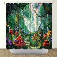DiaNoche Designs Shower Curtains by Arist Philip Straub Unique, Cool, Fun, Funky, Stylish, Decorative Home Decor and Bathroom Ideas - Hidden treasure