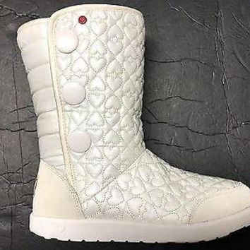 Brand New UGG Australia Girl's I Heart Puffy Quilted Wool Lining Tall Boot US 3