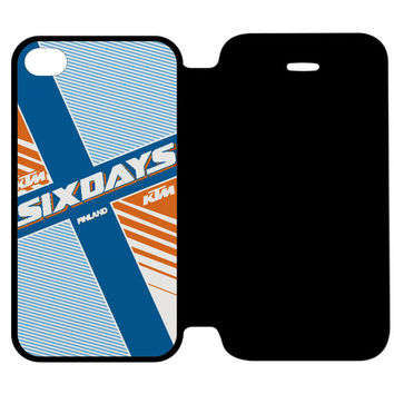 Ktm Motorcycle Six Days Finland Mx iPhone 4 | 4S Flip Case Cover
