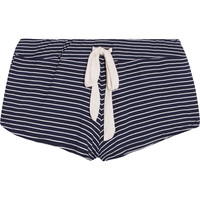 Eberjey - Striped stretch-jersey pajama shorts