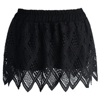 Summer Lace Shorts in Black Black S/M