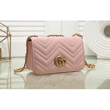 GUCCI Hot Selling Ladies'Fashion Coloured Single Shoulder Bag Shopping Bag Pink N-MYJSY-BB