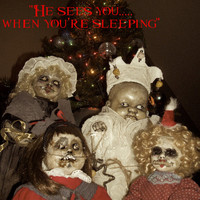 Creepy Christmas Greeting Cards Holiday Horribles Merry Monsters Altered Art Dolls Scary Zombie Santas Hellpers From Lorcheenas