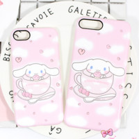 New Fashion cute Cinnamoroll animal Plastic Case Cover iPhone7 7plus 6 Plus 6-05005