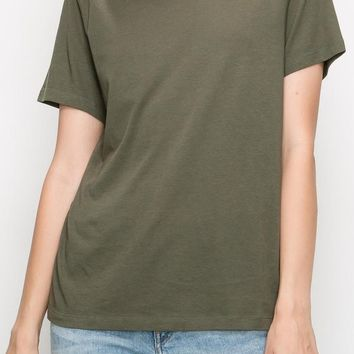 Sam Cotton Modal Tee in Olive