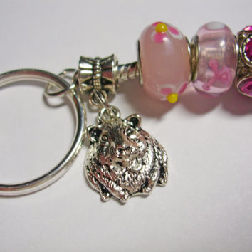 Guinea Pig Key Ring (Pink)