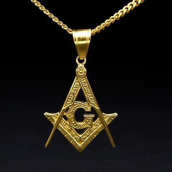 Compass & Square G Necklace [Gold]