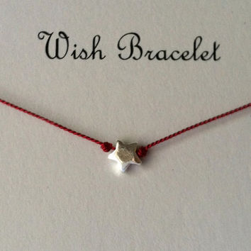 Wish Upon A Star, Sterling Silver Wish Bracelet, Best Friend Bracelet, Charm Bracelet, Valentines Day Gift