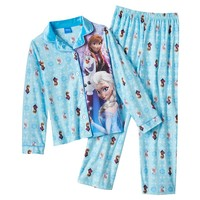 Disney Frozen Elsa, Anna & Olaf Fleece Pajamas - Girls