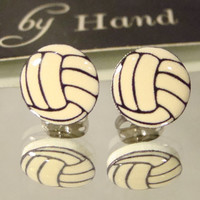 Cute Volleyball Stud Earrings