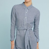 Belted Gingham Shirtdress