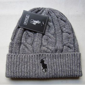 """Polo"" Winter Women Cute tab Hairball Warm hat Knitting Cap F"