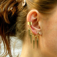 Goldie Spike Ear Cuff  / Free US Shiping
