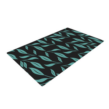 """Louise """"Unnamed"""" Blue Black Woven Area Rug"""