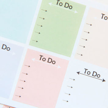 8 Pastel To Do List Stickers - Perfect For Planners & Scrapbooking