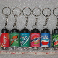 Set Of 6 Soda Can Lip Balm Sticks For Chap Lips, Fruit Flavors, PRICED TO MOVE!
