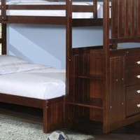 Xander Cappuccino Bunk Bed with Stairs