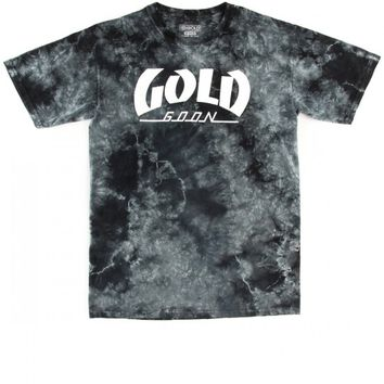 Gold First Issue T-Shirt - Black Tie Dye
